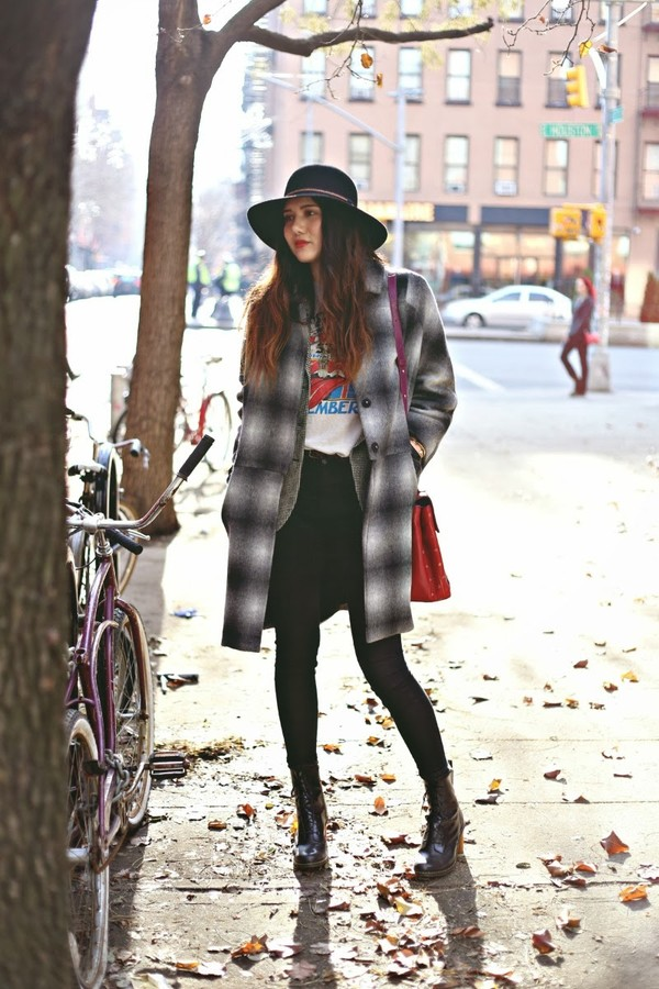 color me nana coat jacket t-shirt jeans shoes hat bag