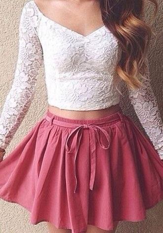 skirt style fashion pink cute summer spring fall beautiful girly