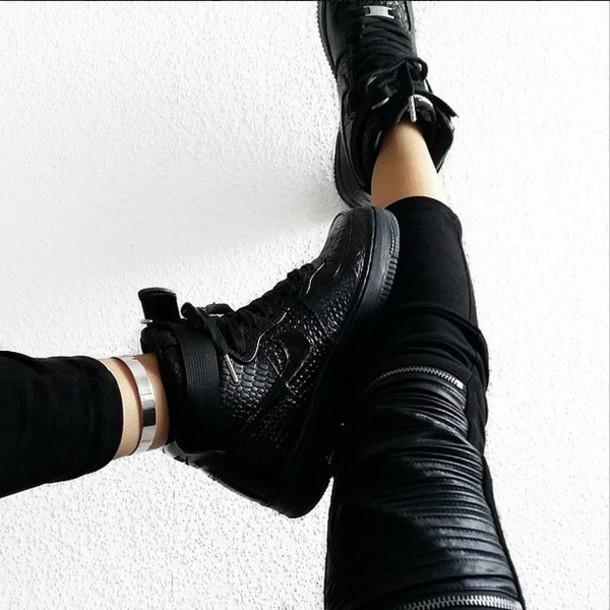 nike air force 1 high black tumblr buyniketrainersonlinecouk