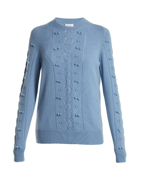 Barrie sweater lace blue