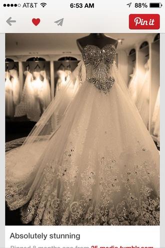wedding dress sparkles white dress