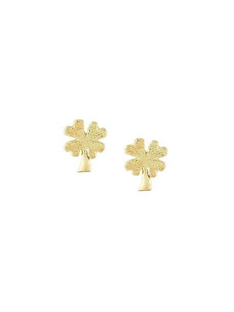 Carolina Bucci women earrings gold grey metallic jewels