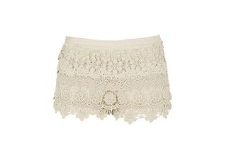 river island crochet shorts vintage lace brown shorts white shorts pink shorts yellow shorts