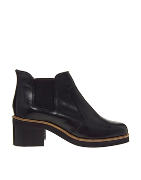ASOS | ASOS ATMOSPHERE Leather Chelsea Ankle Boots at ASOS