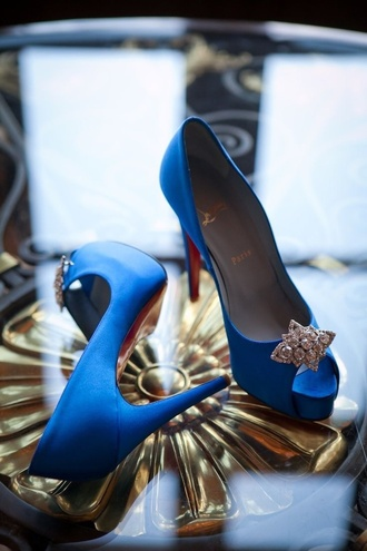 shoes wedding shoes high heels blue heels blue wedding accessory