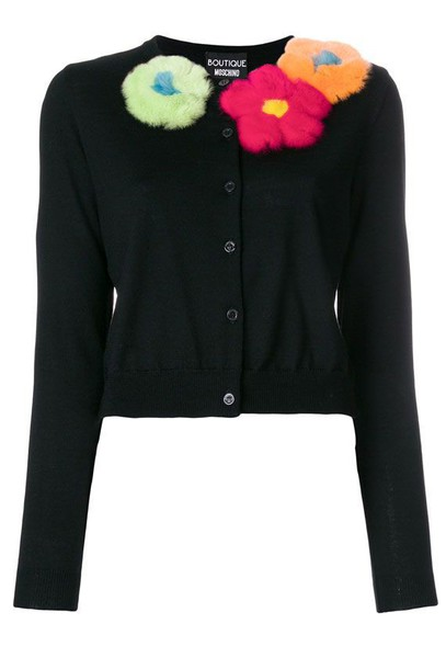 BOUTIQUE MOSCHINO cardigan cardigan wool black sweater