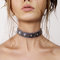 Silver link choker collar