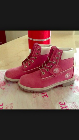 love style boots timberlands pink pretty
