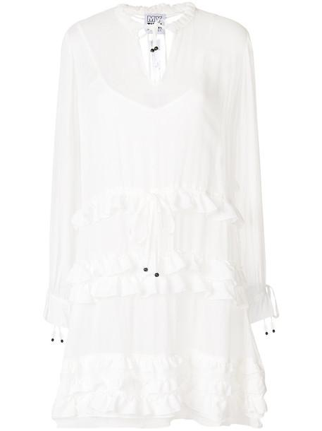 dress shirt dress women white