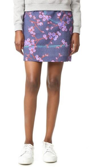 skirt floral skirt floral blue