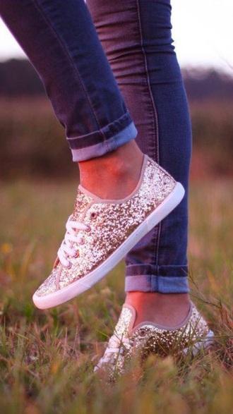 shoes gold sparkle cute