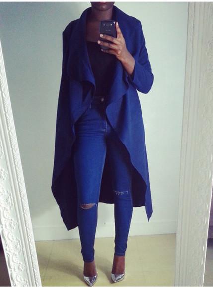 jacket blue jacket classy wow
