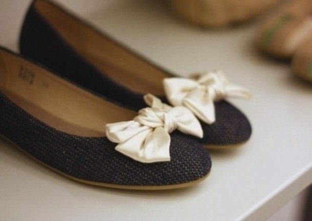 shoes ballet flats bows