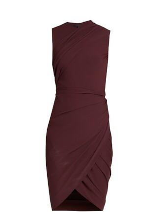 dress sleeveless dress sleeveless draped burgundy