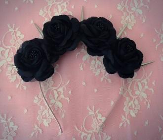 hair accessory spikes flowers headband