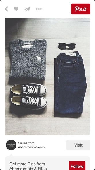 jeans cute black blue white blue jeans skinny jeans fall outfits outfit cute outfits sweater grey grey sweater oversized sweater knitwear knitted sweater knitted cardigan knitted crop top converse black converse