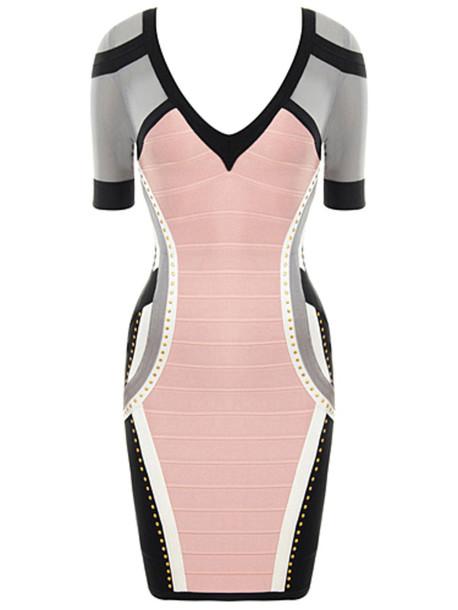 pink dress grey dress pink maxi dress bodycon dress bandage dress dress