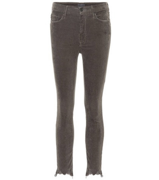 Mother High Waisted Looker Ankle Chew corduroy jeans in brown