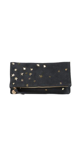 clutch gold stars bag