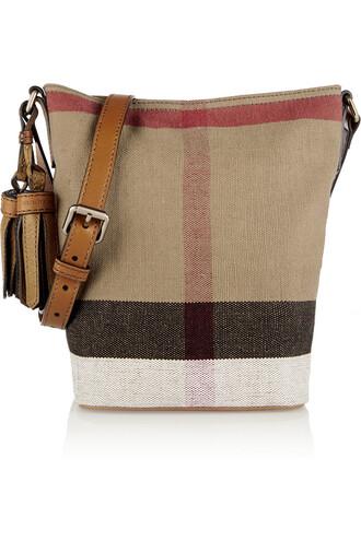 mini london bag shoulder bag leather light brown