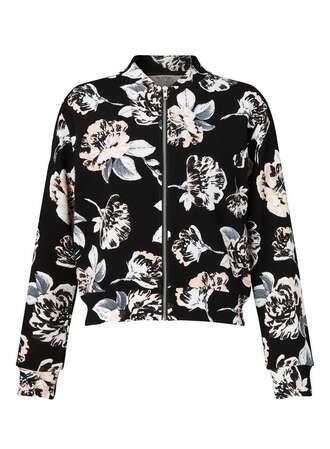 jacket floral jacket spring jacket black jacket printed jacket