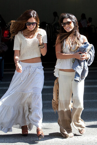 skirt knitwear large vanessa hudgens brown pants yellow pants