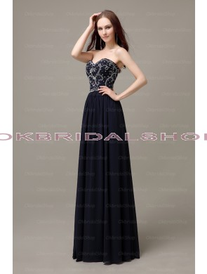 Navy prom dress, long prom dress, elegant prom dress, affordable prom dress, party dress, evening dress, chiffon prom dress, dresses for prom, prom dresses 2014