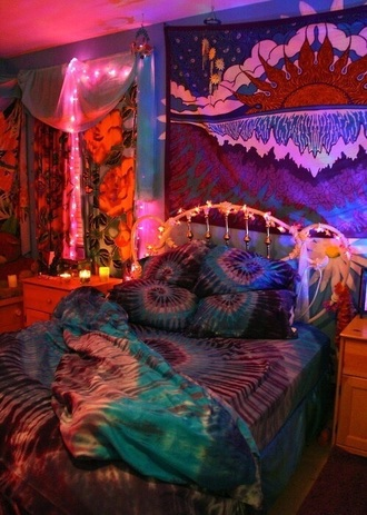 home accessory bedding bedroom hippie tie dye