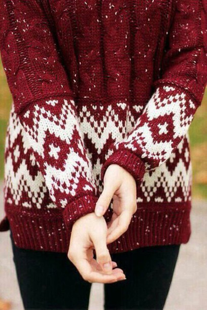 sweater red sweater christmas sweater