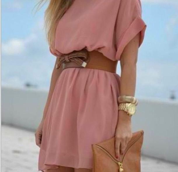 dress see through dress pink dress dress brown