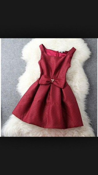 dress red dress bow dress