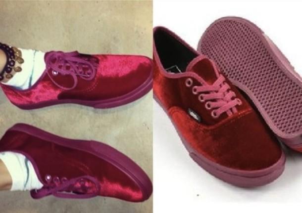 0019b67960 shoes vans red velvet