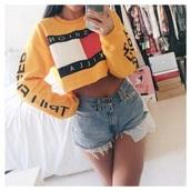 sweater,yellow sweatshirt,yellow fashion killa  sweater