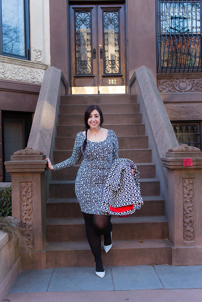 effortlessanthropologie blogger dress tights shoes jewels bodycon dress pumps spring outfits plus size dress curvy plus size