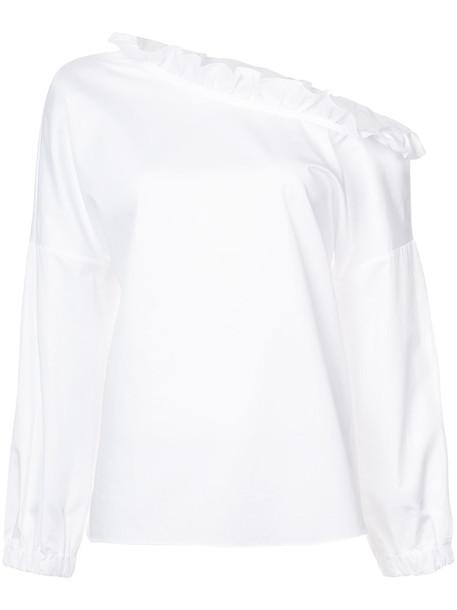 Tibi blouse women white cotton top