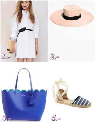 preppy fashionist blogger shirt dress bag hat shoes