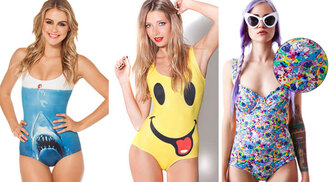 swimwear graphic print one piece swimsuit colorful