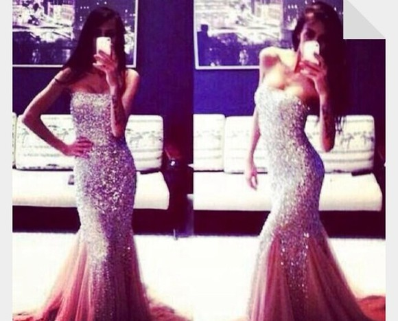 dress long prom dresses gold sequins sparkly dress silver glitter elegant