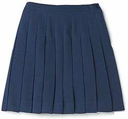 Girl's School Uniform Pleated Skirt in Navy Blue