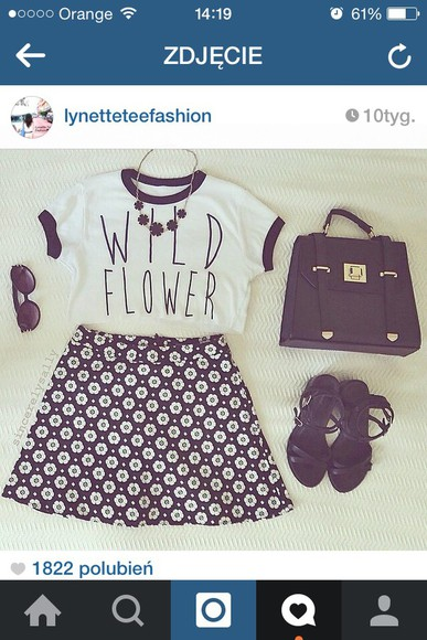 cute romantic bag cute skirts black and white tumblr outfit pale grunge instagram