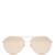 Aviator rose-gold plated sunglasses