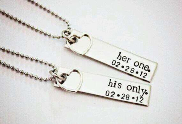 Jewels boyfriend love necklace cute couple for Cute jewelry for girlfriend