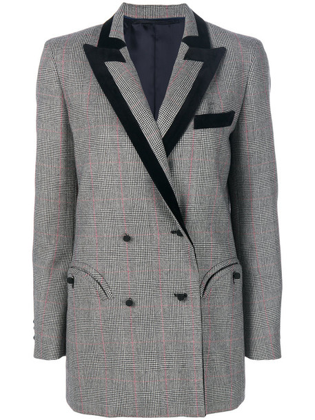 BLAZÉ MILANO blazer high women cotton wool grey jacket