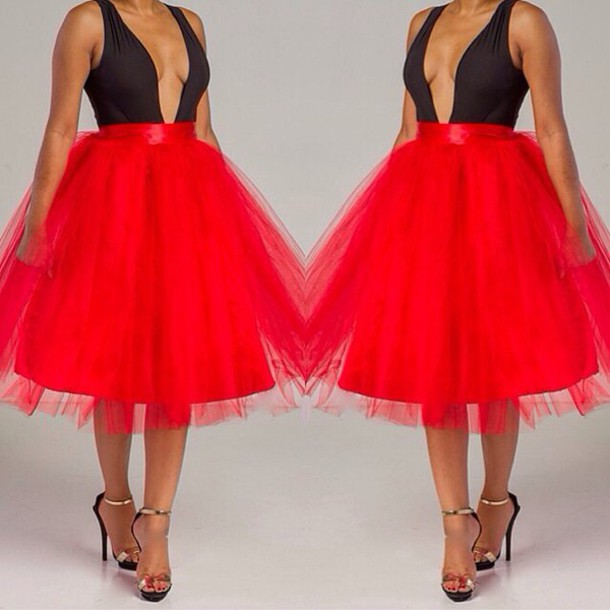 Dress Two Piece Sexy Style Fashion Red Skirt Summer