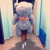 top,huge,teddy bear,human size,grey,present,gift ideas,stuffed animal,girl,jewels,teady bear,home accessory,giant teddy,giant bear,bear,big teddy bear,iceblue,blue,baby blue