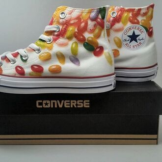 shoes sneakers converse high top converse white converse customized