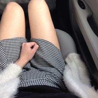 skirt short skirt tartan fux pale pale grunge car tartan skirt fancy black and white atropina tghr7