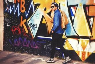 mahayanna blogger coat jeans denim shirt hipster menswear mens sneakers