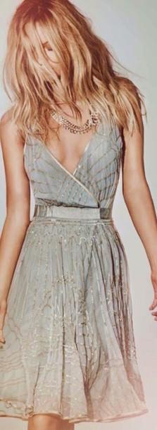 dress blue and gold dress