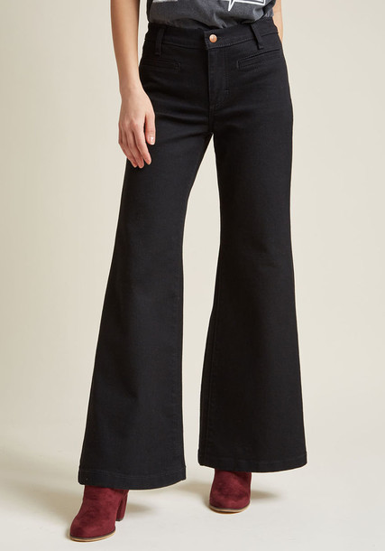 11MPWBK jeans black jeans denim back style slit black